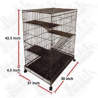 4-Level Cat Cage with Wheels