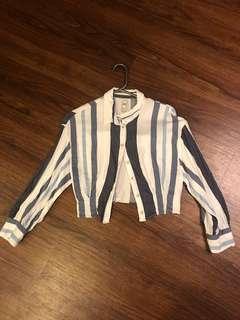 Zara crop shirt