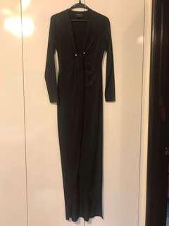 Marciano (Guess brand) long black cocktail dress