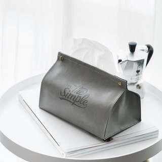 Zakka 雜貨 北歐風ins皮革衛生紙盒