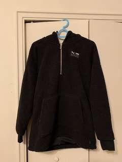 Black teddy puma hoodie
