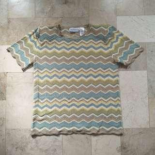 Vintage knit top with paddings