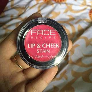 Face recipe lip & cheek stain
