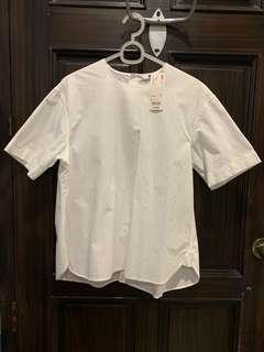 Uniqlo white cotton blouse
