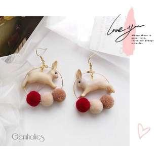 #CNY888 #CNYRED Mary Jane bunny earring