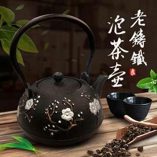 【現貨供應】中華一番 喜鵲登枝老鑄鐵泡茶壺