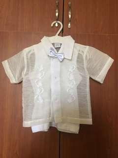 Barong complete set for 1 yr old