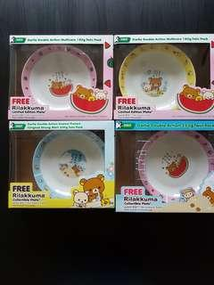 🌹4 boxes BN LIMITED EDITION RILAKKUMA™ collectible plate
