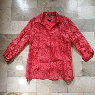 Elementz coral blouse