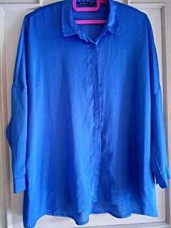 Stradivarius Color Blue Polo Work Wear