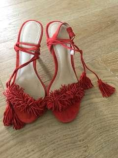 SEED HERITAGE Red heels brand new 7