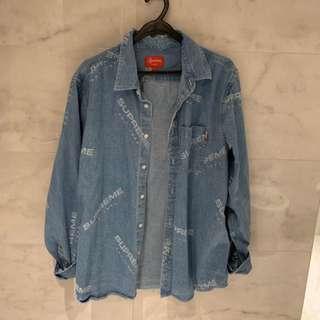 Supreme Jacquard Denim Shirt