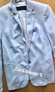 Zara light blue blazer jacket XS