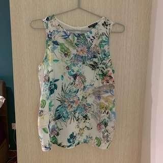 Warehouse Floral Sleeveless Top