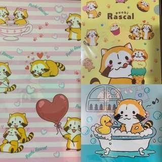 日本正版rascal小浣熊 A4File