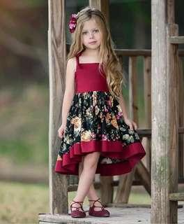 🚚 🌟PM for price🌟 🍀Baby Girl Pageant Floral Straps Dress🍀