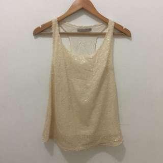 Zara TRF sequin top