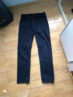 Celana Chino H&M Navy Blue ( Ori $)