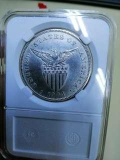 Detailed 1904 one peso uspi
