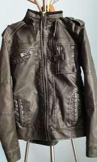 Dark Grey NWT Leather Jacket