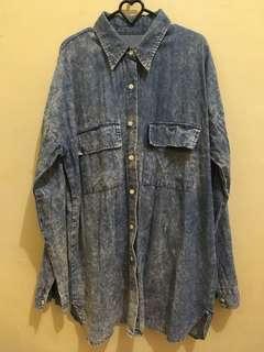#kemejalama Denim Shirt Oversize