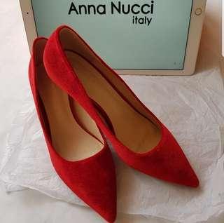 Anna Nucci Red Velvet Heels #CNY888 #CNYRED