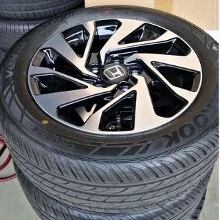 "Honda 16"" Stock Rims and Tyres! (Newly Trade Back!)"