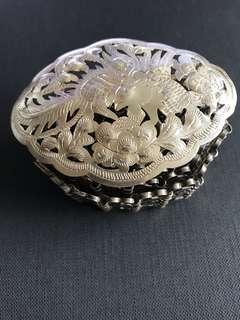 1920s Peranakan Silver Belt with Phoenix Motif