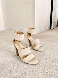 Nude Sandal Heels