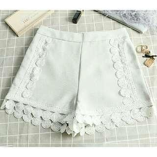 Casual Shorts With Lace Details
