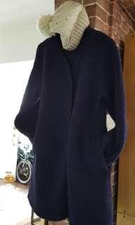 Long Warm Coat w/ beanie