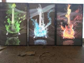 Oil painting Guitars