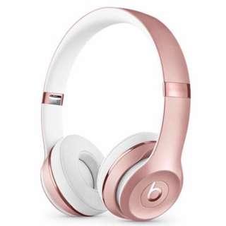 🚚 Beats Solo3 Wireless On-Ear Headphones - Rose Gold