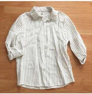 #kemejalama Stripe Shirt