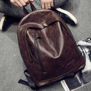 Trivec Leather Backpack Bag