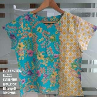 [NEW] BLOUSE BATIK WANITA A-45 BLUE