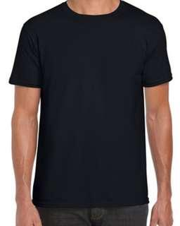 BN🎁Gildan 76000 Premium Cotton Tee Tshirt Black Unisex M