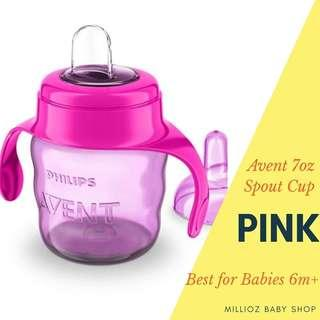 Philips Avent Spout Cup 7oz (Sippy Cup) Pink #CNY888