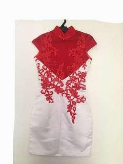Cheongsam Red and White
