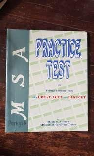 MSA PRACTICE TEST FOR COLLEGE ENTRANCE EXAMS