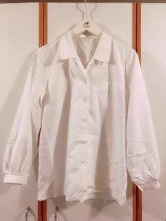 白色寬鬆恤衫