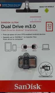Brand new SanDisk Dual Drive m3.0 32Gb selling at $11.90