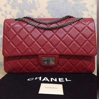 6c3975ae6e13 Authentic Chanel 2.55 Classic Reissue 227 jumbo flap bag