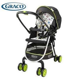 🚚 Graco 輕量雙向手推車+ 全新雨罩