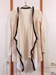 米白色薄款長外套