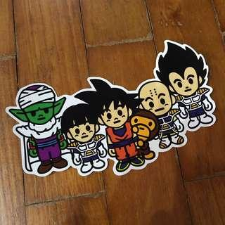 Pop Culture Luggage Laptop Misc Sticker Bape Bathing Ape Anime Japanese Dragonball Z DBZ Heroes Villains Goku Vegeta Collaboration Fashion