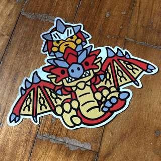 Pop Culture Luggage Laptop Misc Sticker Bape Bathing Ape Capcom Monster Hunter Rathalos Dragon Collaboration Fashion