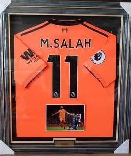 Liverpool Mohamed Salah Match Worn Jersey