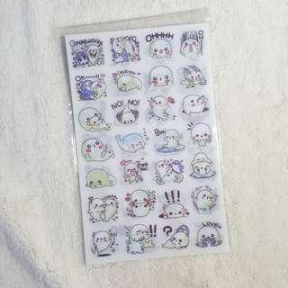 Seal Sticker sheets - Set of 6
