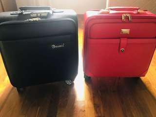 2 Brand New Square Luggage for sale